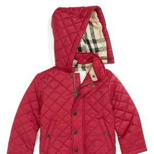 Burberry Toddler quilted coat - maroon 3T